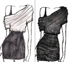 Would be a very cute dress..... wanna learn how to draw like this