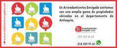 """Consulta nuestra amplia oferta de inmuebles a través de la página web www.arrendamientosenvigadosa.com """"ARRENDAMIENTOS ENVIGADO, EXPERIENCIA INMOBILIARIA EN BUENAS MANOS"""""""