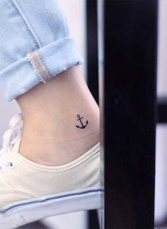Ankle Tattoos Ideas for Women: Anchor Ankle Tattoo