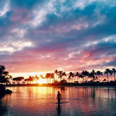 beautiful sunsets of Hawaii