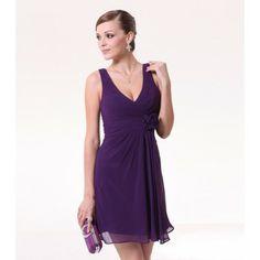 deep purple bridesmaid dress... might be too short