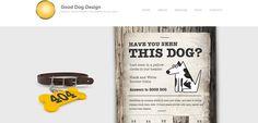Good Dog Design 404 page -- creative 404 error pages  -------------  Wil je minder 404's? of gewoon een betere website? Neem dan eens vrijblijvend contact op met Budeco http://budeco.nl/contact