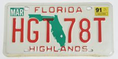 1991+Florida+License+Plate $8.99 free shipping