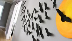 """We make a """"colony"""" of these paper bats every year for Halloween - my littles love it (and it always brings up the conversation about what different groups of animals are called)."""