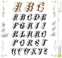 Tattoo Lettering Stock Vector - Image: 44850986 More