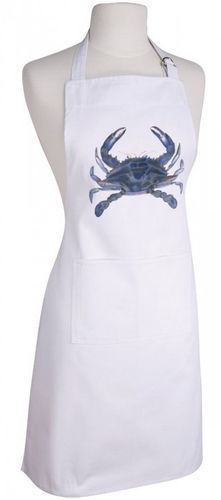 Cook your favorite dish while protecting your clothes from getting unwanted stains with this cute ocean inspired apron! #cottageandbungalow #oceaninspired #apron Gift Shop Displays, Crab Decor, Aprons For Sale, Cottages And Bungalows, Beach Kitchens, Kitchen Aprons, Dinner Sets, The Hamptons, Coastal