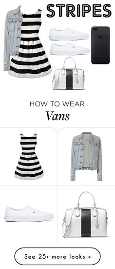 stripes black and white by nadiapooh15 on Polyvore featuring rag  bone, Vans and MICHAEL Michael Kors