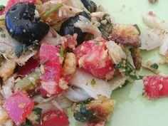 As Minhas Receitas: Salada de Bacalhau e Broa de Milho