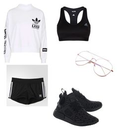 """Casual everyday look"" by gigimohamed ❤ liked on Polyvore featuring adidas and adidas Originals"
