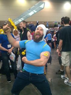 Adventure Time Cosplay! Alright, I've never actually seen the show, but that doesn't change the fact that this is hilarious.