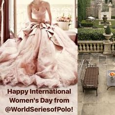 Happy International Women's Day from the U.S. World Series of Polo!  Please join me at our #vipevents to partake and delight in the old world societal pleasures of exciting modern day luxury sports! #polo #vipsports #luxurysports #greenliving #greenluxury #arts #culture #fashion #sports #responsibleluxury #philanthropy #propolo #prosports #pololifestyle #worldseriesofpolo #iampolo  #internationalwomensday2018 #society #societyandsports