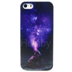Colored Drawing Soft TPU Back Case for iPhone 5S 5 - The Howling