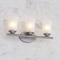 "Masterton 3-Light 19 1/4"" Wide Satin Nickel Bath Light"