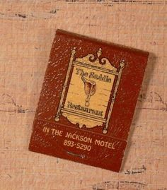 The Saddle Restaurant MATCHBOOK Horse-themed Murfreesboro TN Jackson Motel