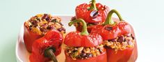 They're ripe and ready and perfect for more than salads and salsas. Here are 15 ways to make tomatoes new again. Quinoa, Stuffed Peppers, Stuffed Tomatoes, Harvest, Salsa, Vegetarian, Treats, Homemade, Fruit