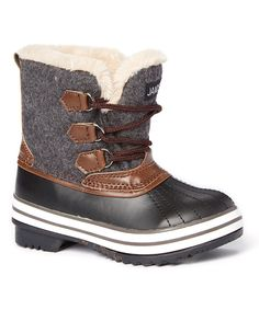 For the boy  Look at this #zulilyfind! JANDS Gray Lace-Up Cold Weather Boot by JANDS #zulilyfinds