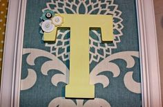 Wood and Fabric Monogram