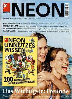 NEON Ausgabe Juli 2013 National Geographic, Neon, Cover, Magazines, Volunteers, Relationships, Dance, Health, Journals