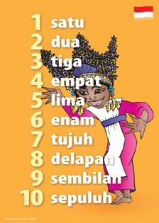 Indonesian (Bahasa Indonesia  [baˈdoneˈsia]) is the official language of Indonesia. It is a standardized register of Malay, an Austronesian language which has been used as a. Language Activities, Preschool Activities, Malay Language, Indonesian Language, Speak Language, Numbers For Kids, World Languages, Cultural Diversity, Worksheets For Kids