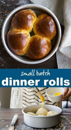 Small Batch Dinner Rolls recipe makes 4 perfect fluffy dinner rolls for two. Small batch rolls recipe is the best way to get dinner rolls on the table. via DessertForTwo Quick Dinner Rolls, Fluffy Dinner Rolls, Dinner Rolls Recipe, Cooking For Two, Batch Cooking, Cooking Steak, Cooking Games, Cooking Tips, Cooking Beets