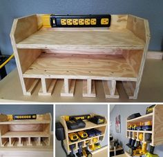 Power tool charging station