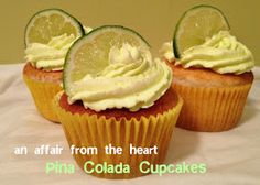 an affair from the heart: Pina Colada Cupcakes