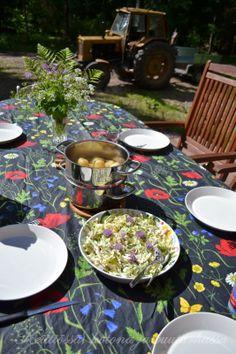 kesälounas mökillä summer lunch at the cottage