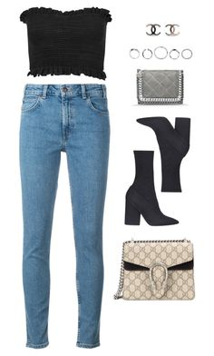 """""""Untitled #11088"""" by katgorostiza ❤ liked on Polyvore featuring Levi's, Miss Selfridge, Yeezy by Kanye West, Gucci and STELLA McCARTNEY"""
