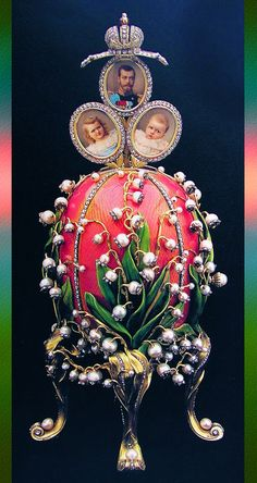 Lilies of the Valley Egg by Peter Carl Fabergé (Russian) jewelry art, genre: Art Nouveau, 1898 Easter Bunny, Easter Eggs, Fabrege Eggs, Faberge Jewelry, Tsar Nicholas Ii, Imperial Russia, Egg Art, Royal Jewels, Russian Art