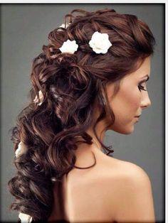 Bride hair style  Flowers