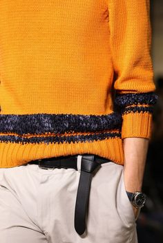 Hermès Spring 2015 mustard jumper