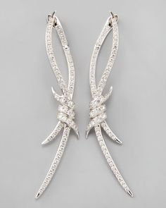 Diamond Barbed Wire Earrings by Stephen Webster at Bergdorf Goodman.