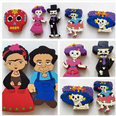 Rompecabezas de madera pintado a mano! #arte #fridakahlo #diegorivera #artistas #cultura #colores #madera  Hand painted wooden puzzles! #artist #fridakahlo #diegorivera #love #culture #cool #artist