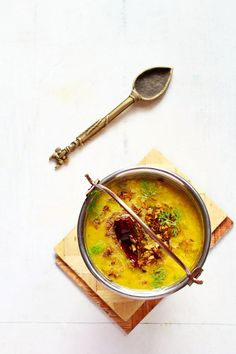 dal tadka restaurant style recipe with step by step photos. dal tadka is one of the most popular dal recipe served in indian restaurants. basically, dal tadka are cooked lentils which are lastly tempered with oil or ghee fried spices & herbs. Lentil Recipes, Curry Recipes, Raw Food Recipes, Veggie Recipes, Indian Food Recipes, Asian Recipes, New Recipes, Vegetarian Recipes, Cooking Recipes