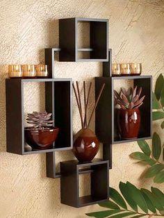 Unique Wall Shelves, Wall Shelf Decor, Wall Shelves Design, Diy Wall Decor, Diy Home Decor, Bookshelf Design, Corner Shelves, Bedroom Furniture Design, Home Decor Furniture