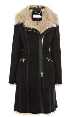 Karen Millen Biker sheepskin coat