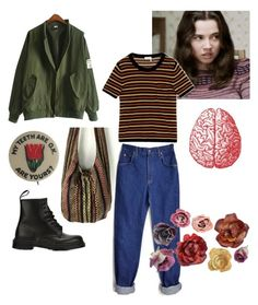"""""""Lindsay weir (( contest ))"""" by lehmon-juice ❤ liked on Polyvore featuring Sonia Rykiel, Lee and Dr. Martens"""