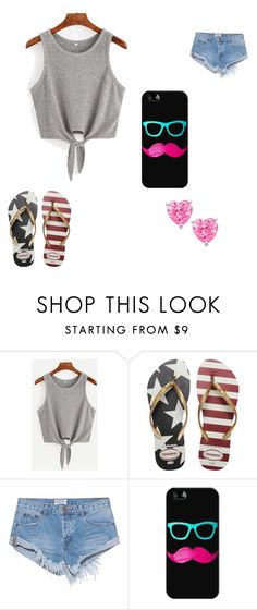 """""""Sunny days!"""" by kittykatbar ❤ liked on Polyvore featuring Havaianas, OneTeaspoon and Casetify"""