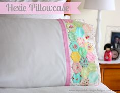 This would be cute paired crocheted edged, floral print pillow case