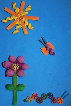 Fun & cute Pasta crafts                                                                                                                                                                                 More