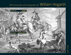 "TG 14304 b William Hogarth (""Hudibras"" William Hogarth, Stamps, Painting, Seals, Painting Art, Stamping, Paintings, Postage Stamps, Painted Canvas"