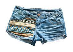 Hotpants im Indianer Look - Mini Shorts Jeans Trend by Lenni Australia