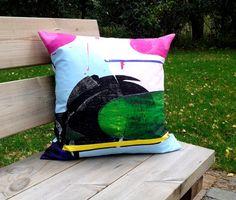 Pillow cover made from Marimekko fabric, pillow case sham, throw pillow cover, Scandinavian cushion, modern accent pillow, 18 or 20 inch