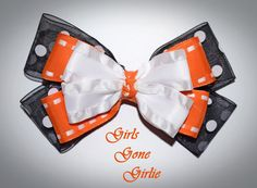 Halloween hair bow baby Halloween black and by GirlsGoneGirlie Halloween Hair Bows, Toddler Halloween, Boutique Bows, Baby Bows, Unique Jewelry, Handmade Gifts, Girls, Etsy, Black