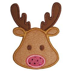 Reindeer Face applique