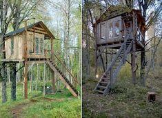 #cabane #bois #arbre Cabane dans les arbres