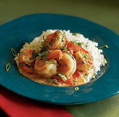Shrimp Stew with Coconut Milk, Tomatoes & Cilantro