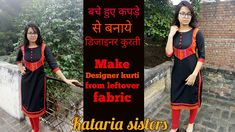 Kataria sisters Hello everyone today In this video , how can you make your kurti stylish or designer with leftover fabric , it is really very new and latest . Kurti Neck Designs, Dress Neck Designs, Stitching Classes, Kurta Patterns, Leftover Fabric, Types Of Women, Front Design, Sewing Hacks, Sewing Patterns