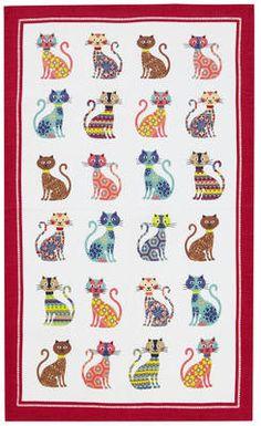 Groovy Cats - Ulster Weavers Linen Tea Towel £5.20