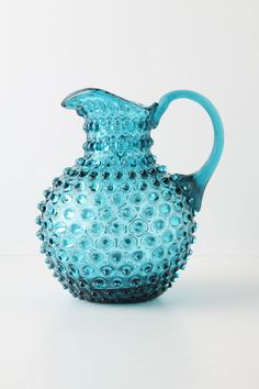 turq hobnail pitcher